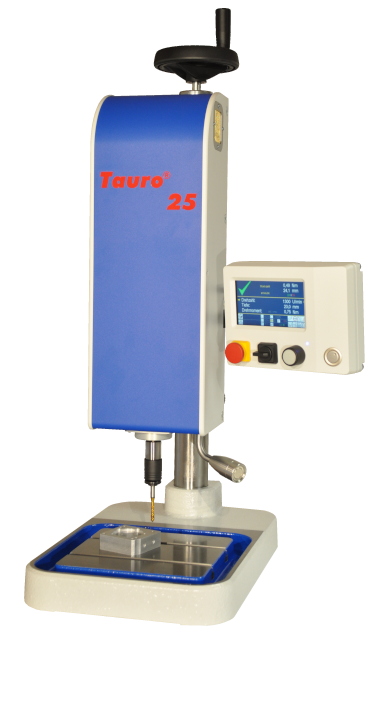 Tauro 25 thread tapping machine for standalone usage or thanks to its modular design as part of an automation.